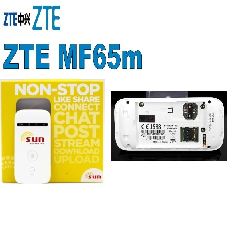 Лот 500 шт. zte MF65m 3g HSPA + Точка Мобильный маршрутизатор карман WI-FI широкополосный 3g sim-карты МИФИ