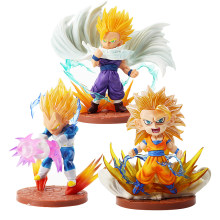 13-16 cm Anime Dragonball Dragon Ball Z Super Saiyan Goku Vegeta Gohan PVC Action Figure Collectible Modelo boneca de brinquedo(China)