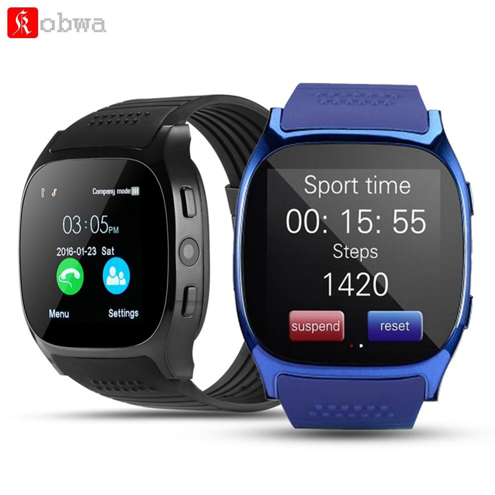 T8 bluetooth relógio inteligente com câmera facebook whatsapp apoio sim tf cartão chamada smartwatch para o telefone android pk a1 q18 dz09