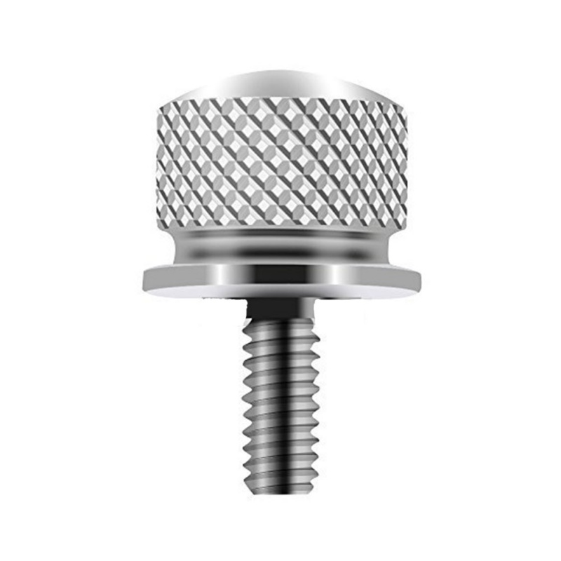 For Sportster Softail Dyna Street Bob Fatbob 1996-2015 6mm Motorcycle Accessories 1/4'' Knurled Rear Seat Bolt Screw