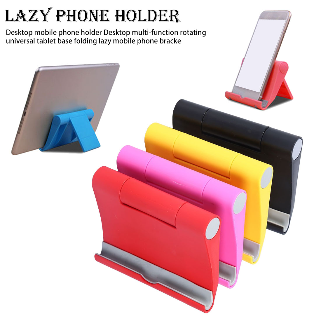 Rotating Tablet Phone Holder For Cellphone Universal Cell Desktop Stand For Phone Stand Mobile Support Table Wholesale