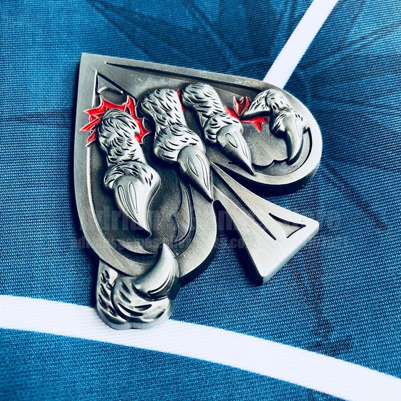 Blue TOURNAMENT WINNER Brass Card Guard Protector Cover