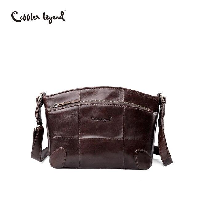 Сапожник Легенда бренда Пояса из натуральной кожи сумка женская двойные карманы Малый Для женщин Сумочка для Для женщин плечо сумка через плечо Леди Люкс