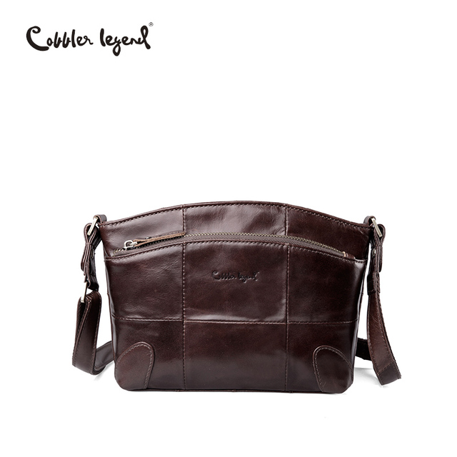 31b20fcf2c Cobbler Legend Brand Genuine Leather Bag Female Double Pockets Small Women  Handbag For Women Shoulder Crossbody Bag Lady Luxury