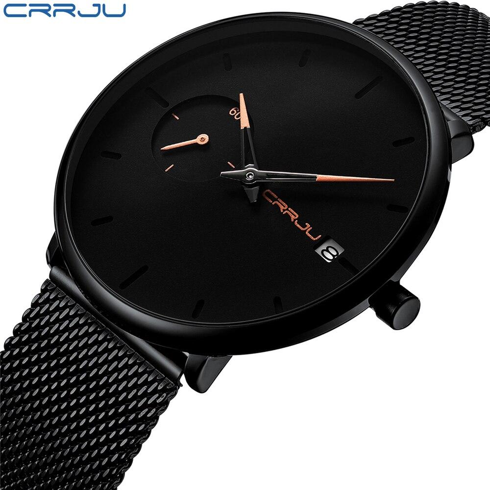 Noir D'affaires montre Simple Hommes de Montres de Sport Mâle En Acier Inoxydable Horloge Hommes Marque De Luxe montre-Bracelet homme montre montre homme