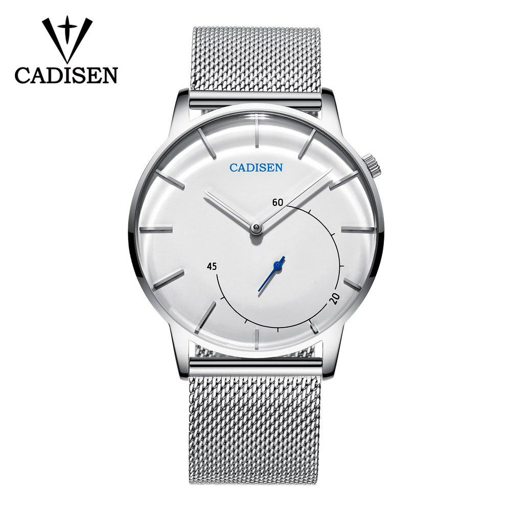0cc70c1ad15 CADISEN Relógio de Quartzo Homens Militar Marca de Relógios De Pulso Homens  Completa Aço Famosos Homens