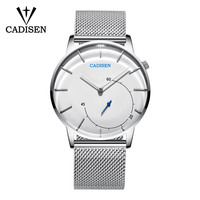 CADISEN Quartz Watch Men Brand Military WristWatches Men Full Steel Famous Business Men Watch Clock Waterproof Relogio Masculino