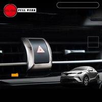 1 stuk ABS Chrome Auto Noodverlichting Schakelaar Knop Cover Frame Trim Decoratie voor Toyota CHR C-HR 2017 2018 Accessoires
