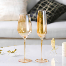 Europe amber creative glass wine Household Goblets Electroplated Red Wine Cup Lead-free Champagne glasses Drinkware