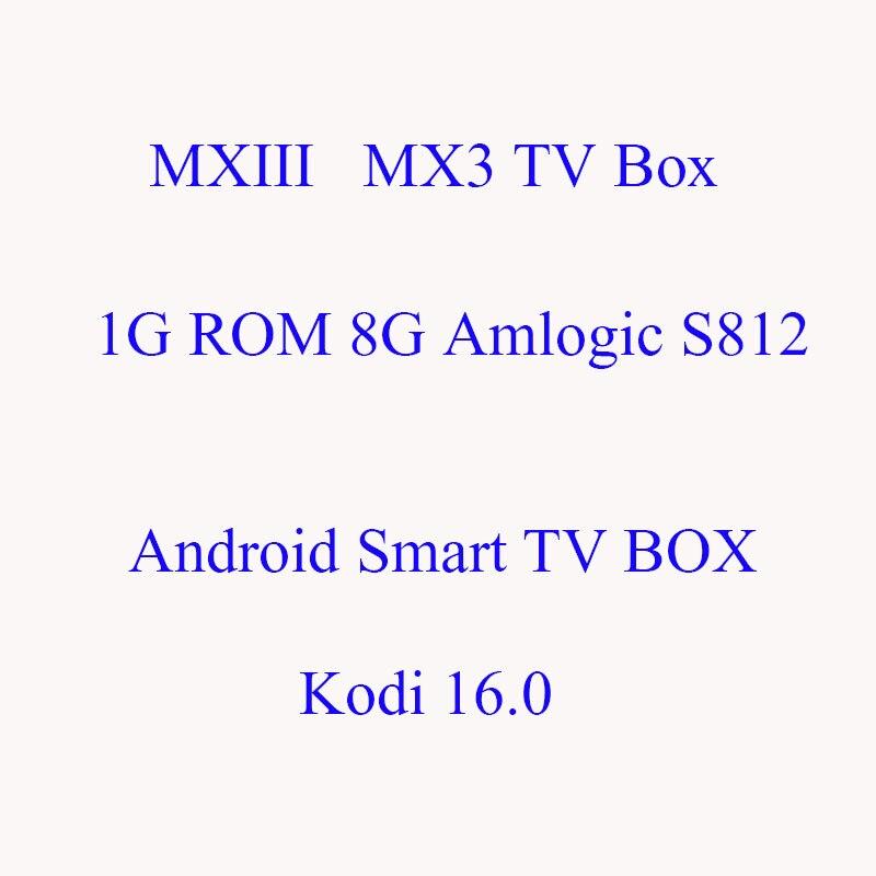 ФОТО AKASO 1G/8G Amlogic S812 MX III MX3 1080P 2.0GHz 600MHz QUAD CORE 4.4 Android Smart TV BOX Kodi 16.0 4K Media Player