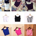 New Shirts Breathable Elasticity Lady Fitness Short Blouse Clothes Sexy  Vest For Women
