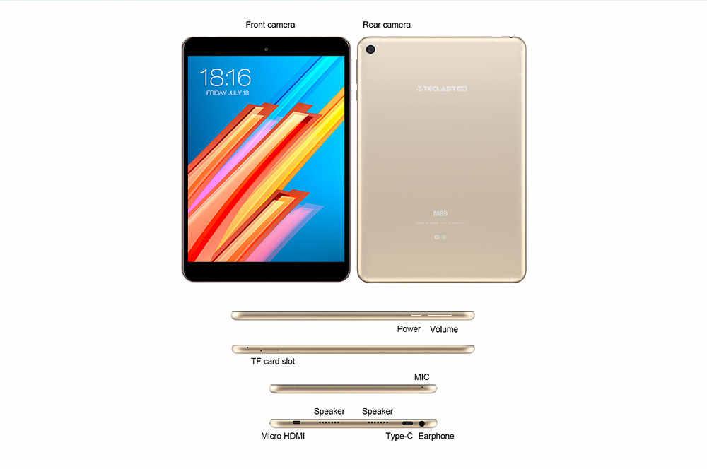Teclast m89 pro tablet pc 10 núcleo 2.1 ghz atualizado 3 gb + 32 gb 7.9 polegada android 7.1 mtk helio x27 (mt6797) otg duplo wifi hdmi tipo-c