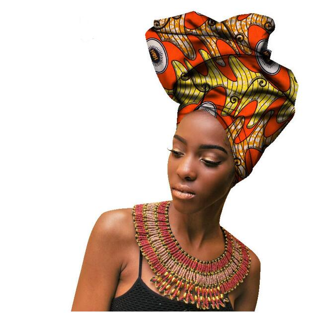 Multi colored with pearls beauty african headtie for women African Women Headwraps Hight Quality Cotton Head Scarf 50 180CM in Women 39 s Skullies amp Beanies from Apparel Accessories