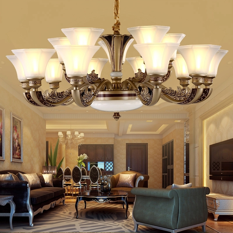 European style chandelier luxurious living room lamp restaurant bedroom light retro dining chandeliers contemporary chandelier цены
