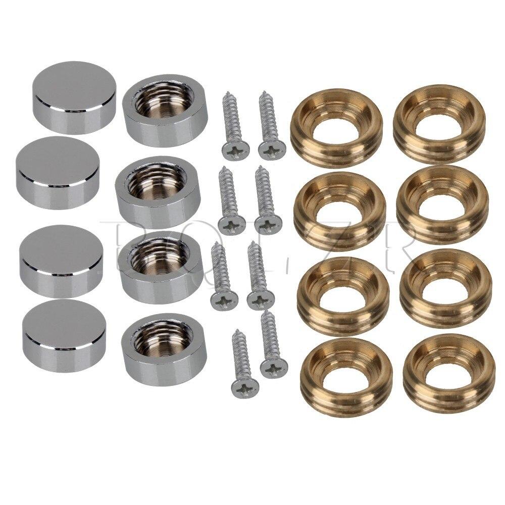 Conjunto de 8 de Cobre Sólido BQLZR Publicidade Parafusos 14mm Espelho de Prata Cap Nails Decoração
