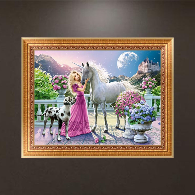Horse DIY 5D Diamond Embroidery Painting Cross Stitch Craft Home Decor
