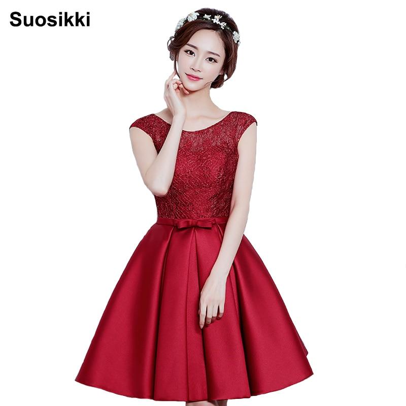 Suosikki New Arrival Elegant Party Mini Prom Dress Vestido De Festa A-line Lace Lace-up Cocktail Party Dress Free Shipping