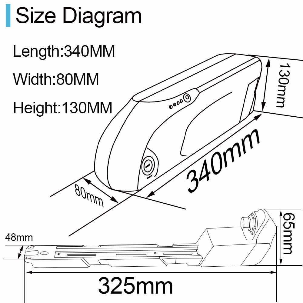 Vận Chuyển Từ Mỹ Xe Đạp Điện Pin 48V 17.5Ah Với Sanyo/Samsung Cell Ebike Pin Dành Cho Cho Bafang 500W 750W 1000W