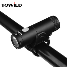 цены TOWILD Usb Rechargeable Bike Light Front Handlebar Cycling Led Light Battery Flashlight Torch Headlight Bicycle Accessories