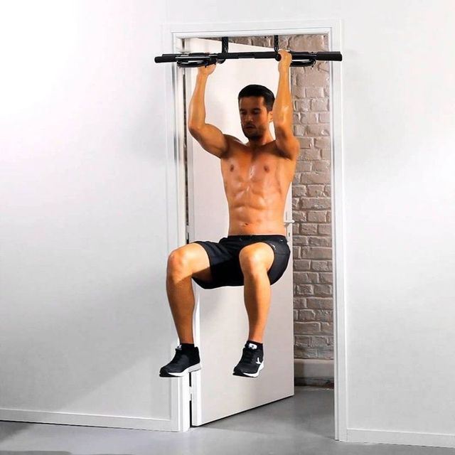 Multi-function Pull Up Bar Door Home Gym Horizontal Bar Chin Up Bicep Blaster Total Upper Body