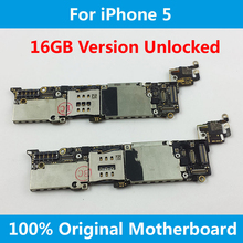 For iPhone 5 5G Motherboard 100% Original Official 16GB Version Unlocked Mainboard With Full Chips IOS Installed Logic Board