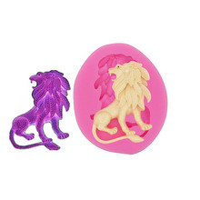 Gadgets-Lion - Flexible silicone push / clay, resin, candy, soft candy Big Lion Silicone Mold Icing Polymer