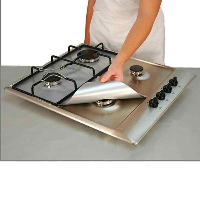 4 шт. универсальная подкладка для духовки, Защитная пленка для газовой плиты, квадратная термостойкая Защитная пленка для горелки, моющаяся многоразовая накладка 27*27 см