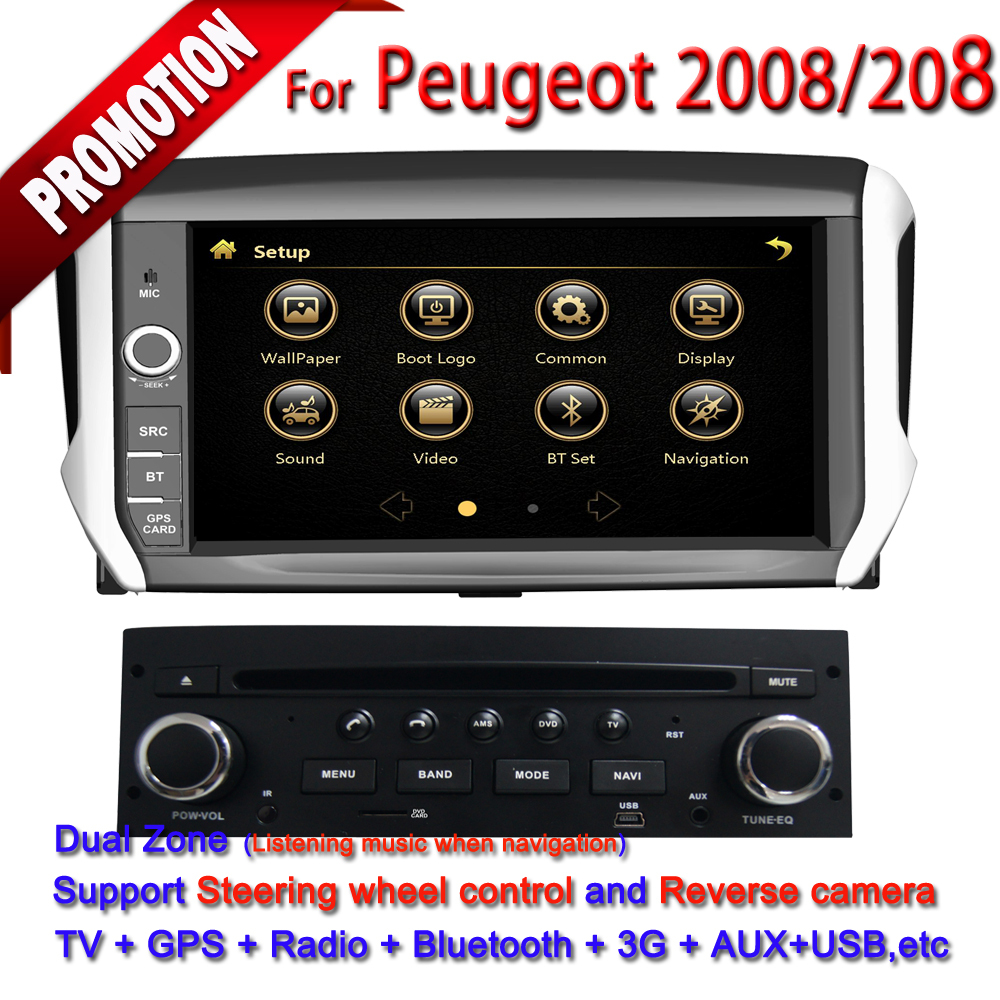 tft 7 hd touch screen 2 din car dvd player with gps for peugeot 208 2008 in car multimedia. Black Bedroom Furniture Sets. Home Design Ideas