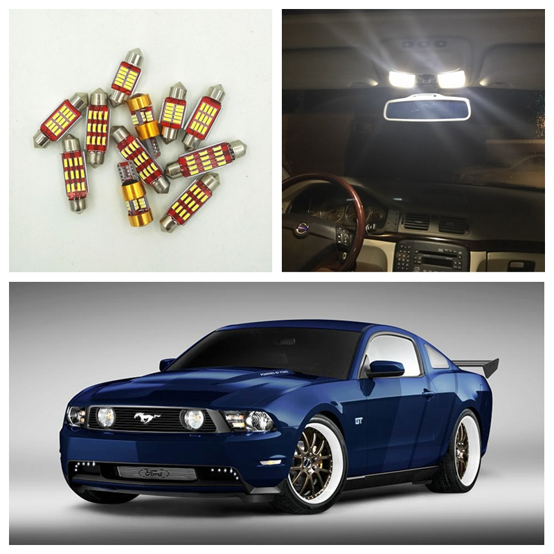 9pcs Xenon White Canbus LED Light Bulbs Interior Package Kit For Ford Mustang 2010-2014 Map Dome License Plate Light Ford-C-19 shanghai chun shu chunz chun leveled kp1000a 1600v convex plate scr thyristors package mail