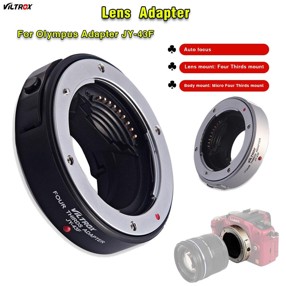 Pour Olympus Lens Adapter Viltrox JY-43F auto mount adapter Pour Panasonic Olympus macro M43 montage à 43 Lentilles E-PL3 EP-3 e-PM1