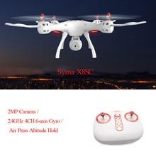 RC Drone Syma X8SC Kamera 2MP 2.4 GHz 4CH 6-axis RTF Modus Gyro Air Tekan Ketinggian Terus Tanpa Kepala, Satu Kunci Mengambil Off helikopter