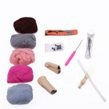 New Arrive 6 Colors Kids DIY Fun Doll Needlework Raw Craft Wool Felt DIY Craft For Handmade Weaving Room Decoration Hot Sale