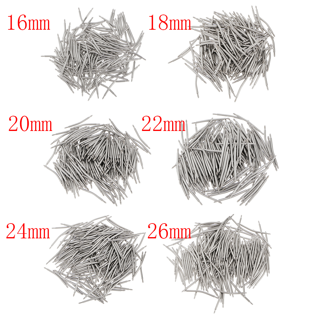 200 Pieces Wholesale Stainless Steel Curved Spring Bar Pins Link for Watch Band 12mm-26mm Watchmaker Repair Component line art