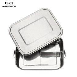 Bento yemek kabı 304 sınıf paslanmaz çelik gıda konteyneri silikon sızdırmazlık halkası pirinç yemeği depolama aksesuarları 3 bölmeli