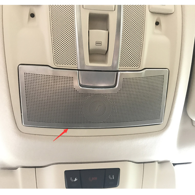1pc Car Styling Stainless Steel Stickers Car Eye Box Cover Interior Trim For Mercedes Benz ML W166 GLE Coupe C292 GL X166 GLS for mercedes benz ml gle w166 gle class coupe c292 car styling door sill scuff plate welcome pedal trim cover car accessories