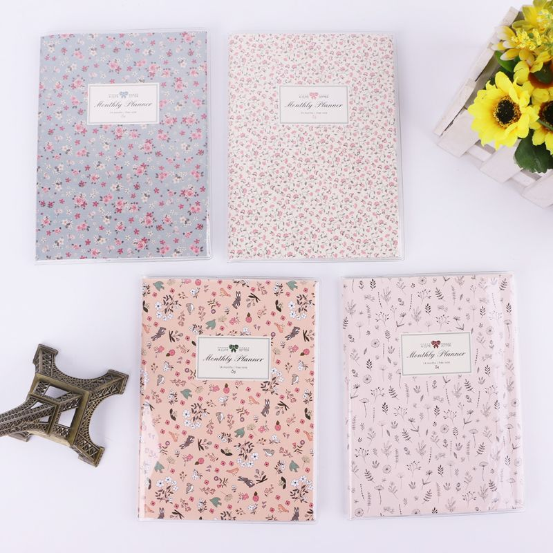 Cute Animals Flowers Monthly Planner Notes Notepad Paper Notebook Schedule Book Office School Supplies Stationery