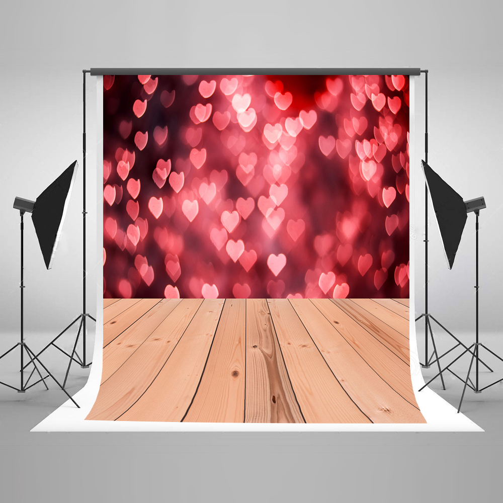 Kate 5x7ft  Love Heart Photography Backdrops Valentines Wood Floor Princess  Photo Backdrop Children Washable Backdrop Rustico