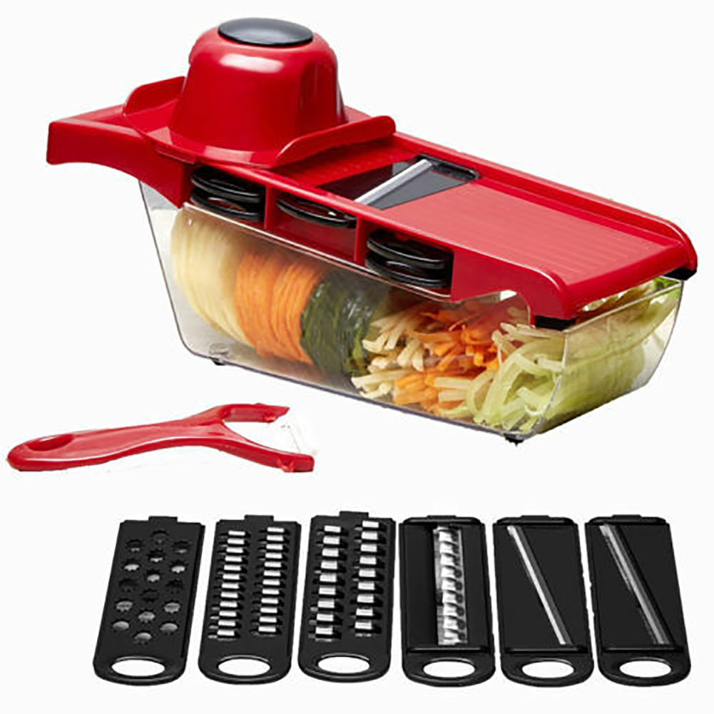 Vegetable Chopper 6 Blades Slicer Vegetable Cutter Potato Onion Carrot Grater Chopper Multi function Kitchen Tools in Kitchen Gadget Sets from Home Garden