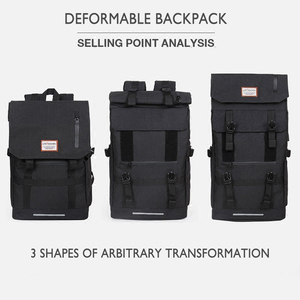 Image 2 - 2020 New Multifunction Men Backpack USB Charging 40L Large Capacity Out Door For Male Black Travel Backpacks Fashion School Bags