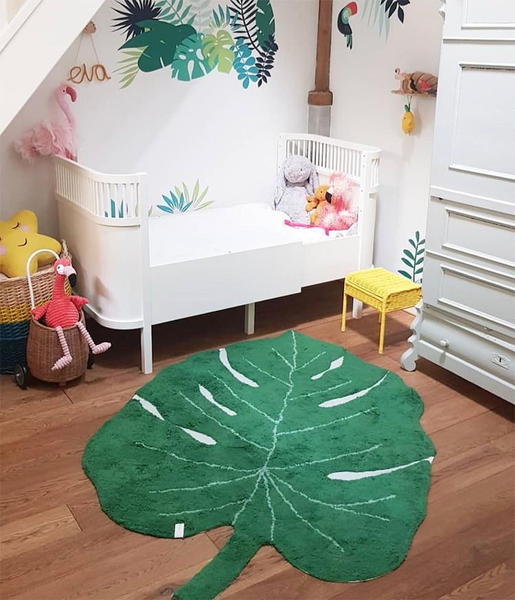 Nordique bébé tapis coton bébé feuille tapis de jeu activité jeu tapis de jeu décoration enfants chambre tapis enfants jouets couverture tapis - 4