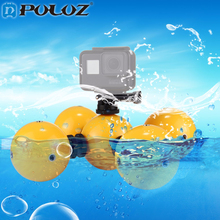 5PCS PULUZ Underwater Camera Floating Ball Buoyancy ball for Gopro4 5 Mini Floaty Holder for Gopro 4/3+ SJCAM Xiaoyi 4k