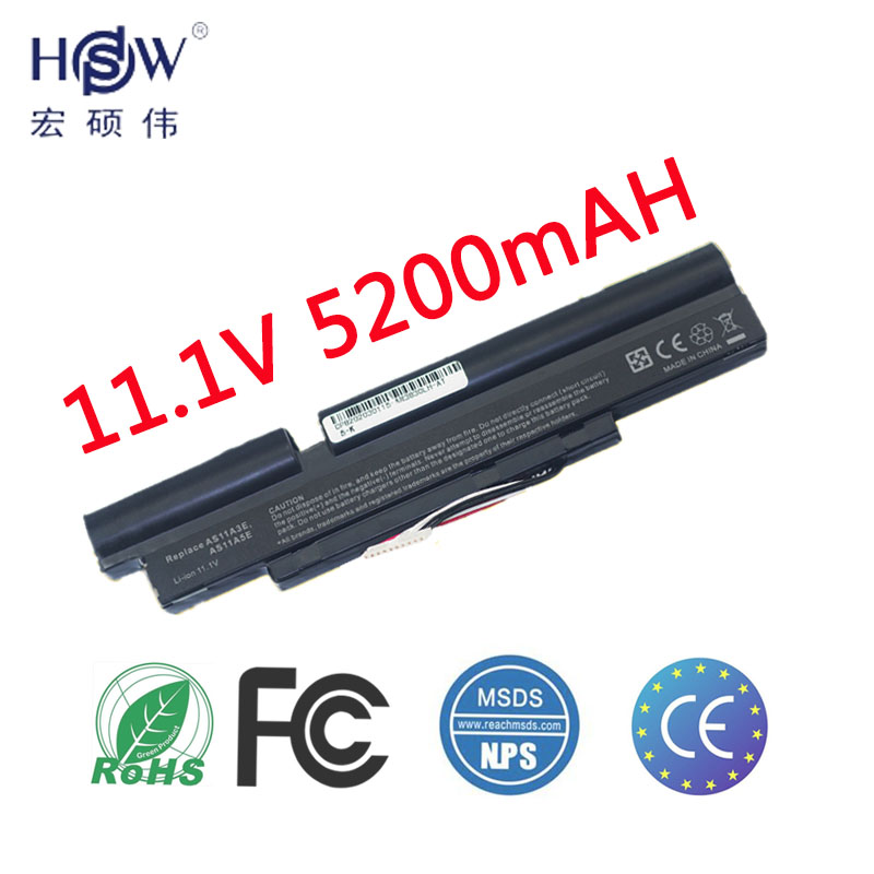 HSW Laptop Battery For ACER Aspire AS11A5E TimelineX 3830T 3830TG 3830G 4830T <font><b>4830TG</b></font> 5830T 5830TG laptop battery AS11B5E AS11A3E image