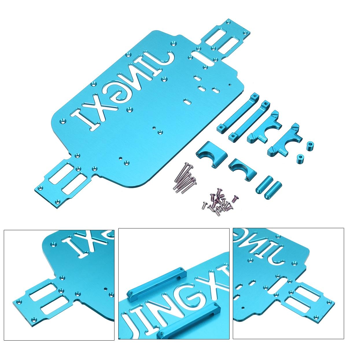 Pour WLtoys A959-B A949 A959 A969 A979 K929 1/18 RC Voiture Mise À Niveau En Métal Châssis De Voiture Bas De Rechange Plaque de Fond Or /rouge/Gris/Bleu