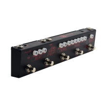 Valeton Dapper Dark Multi-effectpedaal Elektrische gitaar 5 in 1 Guitara Tuner Boost, Hi-Gain, Delay, Chorus-effecten Pedaal VES-3