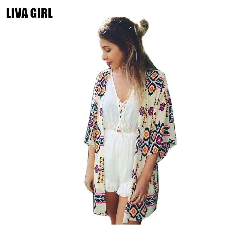 83159b36a 2018 الصيف قميص نمط جديد قمم النساء البلوزات المطبوعة قميص عارضة camisas  femininas blusas خمر كيمونو سترة