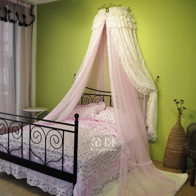 2015 Bunk Bed Curtain Hot Sale Cortina Bed Canopy Mosquiteiro Dual Double  Layer Lace Royal Mosquito