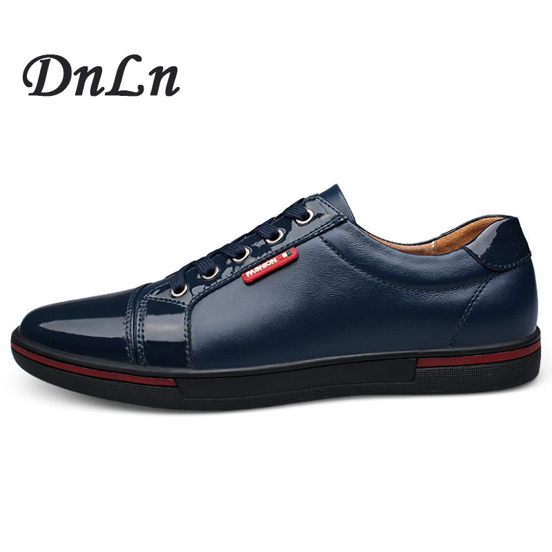 Men Casual Shoes 2017 Spring Autumn Lace Up British Style Breathable Top Fashion Flat  Leather Shoes D30