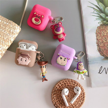 Cartoon Toy Story Woody Buzz Lightyear Case For airpods Apple Wireless bluetooth headset Cover New air pod 2 acessorios