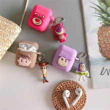 Cartoon Toy Story Woody Buzz Lightyear Case For airpods Apple Wireless bluetooth headset Cover New air pod 2 acessorios(China)