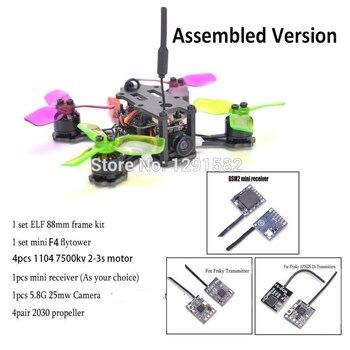 ELF 88 88mm Micro Telaio mini F4 flytower Integrato OSD 4 in 1 BLHeli ESC 1104 7500kv Frsky pro /Flysky/DSM2 Mini Ricezione
